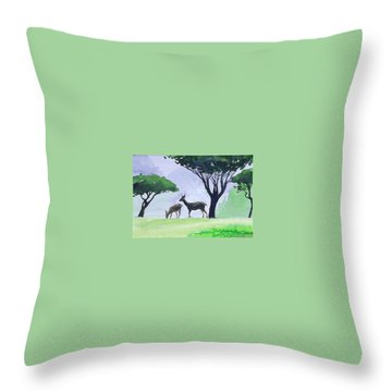 Throw Pillow featuring the painting Point Lobos by Ed Heaton