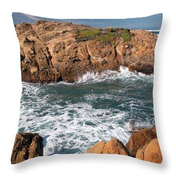 Point Lobos Throw Pillow by Glenn Franco Simmons