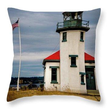 Point Robinson  Lighthouse,vashon Island.wa Throw Pillow