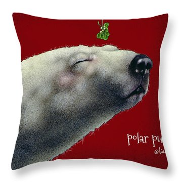 Throw Pillow featuring the painting Polar Pucker... by Will Bullas