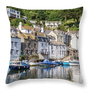 Polperro, Cornwall Throw Pillow