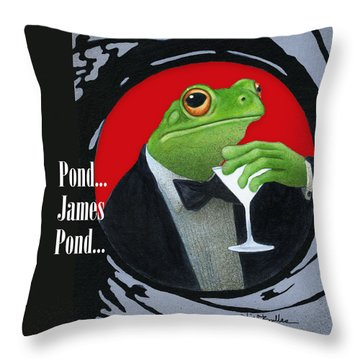 Pond ... James Pond Throw Pillow