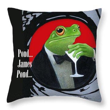 Pond ... James Pond Throw Pillow