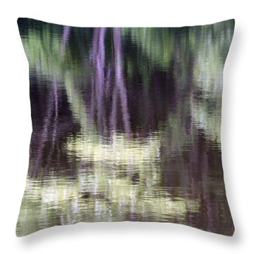 Pond Reflect Throw Pillow by Karol Livote