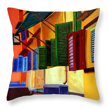 Ponte Vecchio Detail Throw Pillow
