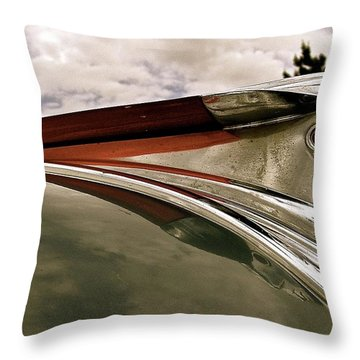 Throw Pillow featuring the painting Pontiac Ornament  by Alan Johnson