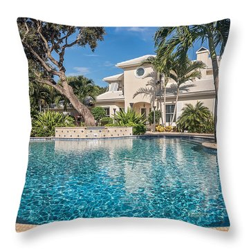 Pool Home Throw Pillow