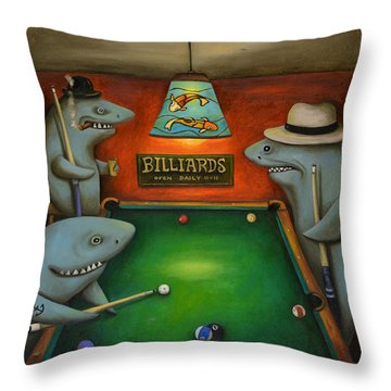 Pool Sharks Throw Pillow