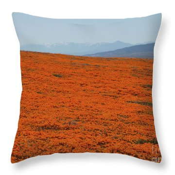 Poppy Field II Throw Pillow by Suzette Kallen