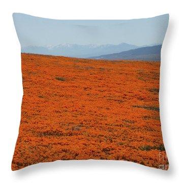 Poppy Field II Throw Pillow