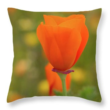 Throw Pillow featuring the photograph Poppy by Roger Mullenhour