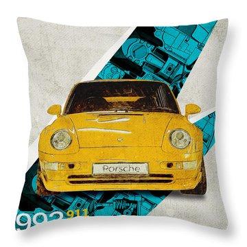 Porsche 993 Gt2 Throw Pillow