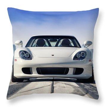 #porsche #carreragt Throw Pillow