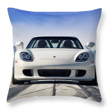 #porsche #carreragt Throw Pillow