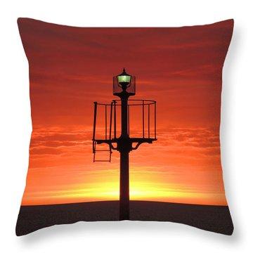 Port Hughes Lookout Throw Pillow by Linda Hollis