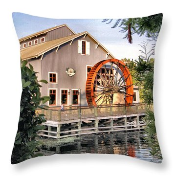Port Orleans Riverside Iv Throw Pillow