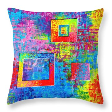 Portals Of Color Throw Pillow by Jeremy Aiyadurai