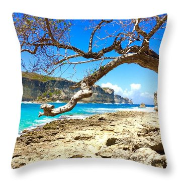 Porte D Enfer, Guadeloupe Throw Pillow