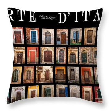 Porte D'italia Throw Pillow