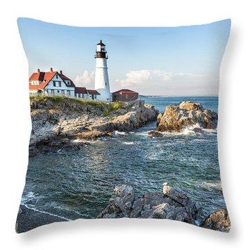 Portland Head Light Throw Pillows