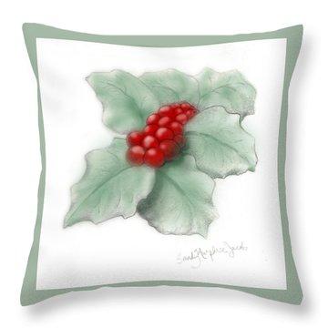 Portland Holly Throw Pillow