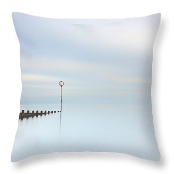 Throw Pillow featuring the photograph Portobello Seascape by Grant Glendinning