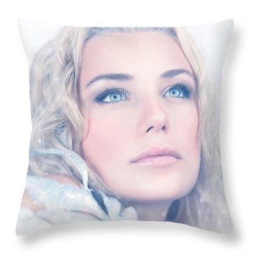 Portrait Of Gorgeous Female Throw Pillow