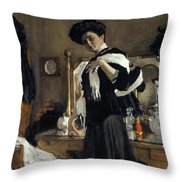 Portrait Of Henriette Girshman Throw Pillow