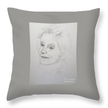 Portrait Of Mother Throw Pillow