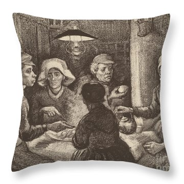 Potato Eaters, 1885 Throw Pillow by Vincent Van Gogh