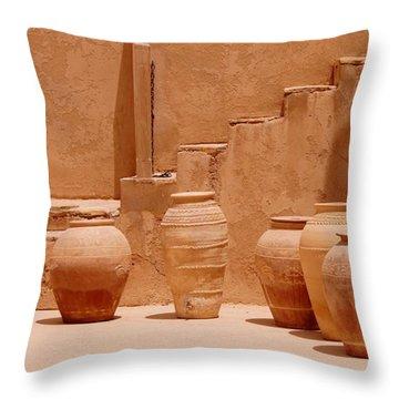 Pots Throw Pillow by Debi Demetrion