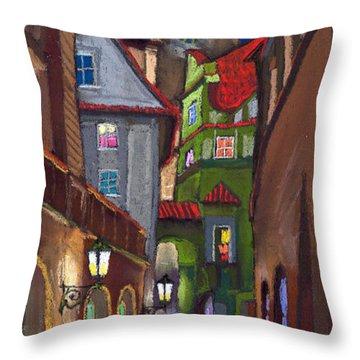 Old House Throw Pillows