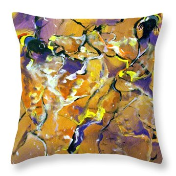 Praise Dance Throw Pillow by Raymond Doward