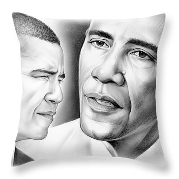 President Barack Obama Throw Pillow by Greg Joens