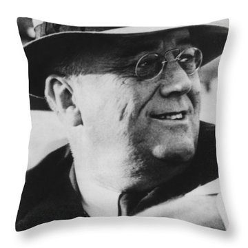 President Franklin Roosevelt Throw Pillow