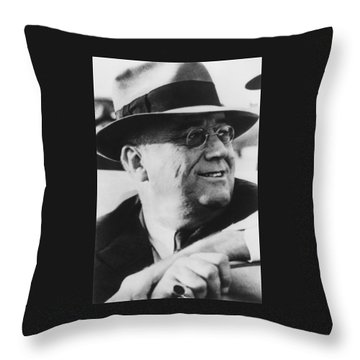 President Franklin Roosevelt Throw Pillow by War Is Hell Store
