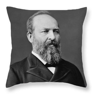 President James Garfield Photo Throw Pillow