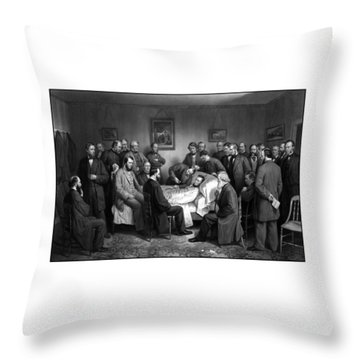 President Lincoln's Deathbed Throw Pillow