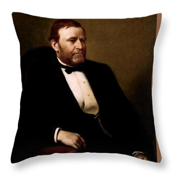 President Ulysses Grant Throw Pillow by War Is Hell Store