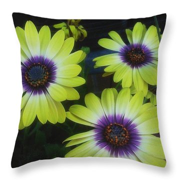 Pretty! 💛 #flowers #nature #yellow Throw Pillow