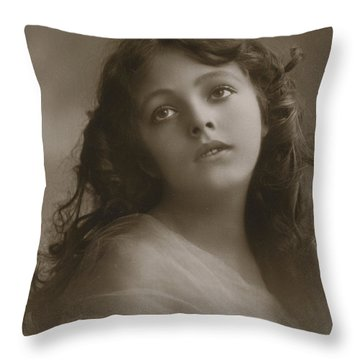 Pretty Girl, Day Dreaming  Throw Pillow