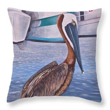 Pride Of Shem Creek Throw Pillow