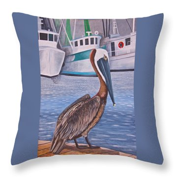 Pride Of Shem Creek Throw Pillow