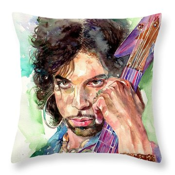 Prince Rogers Nelson Portrait Throw Pillow