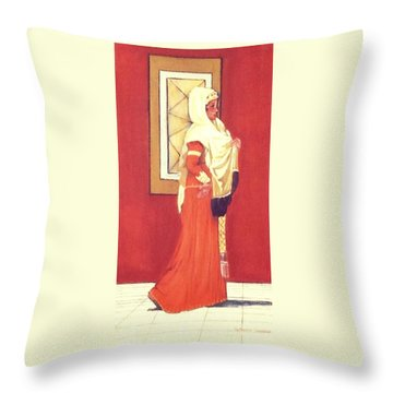 Princess Throw Pillow by Catherine Swerediuk