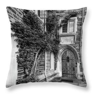 Throw Pillow featuring the photograph Princeton University Foulke Hall II by Susan Candelario