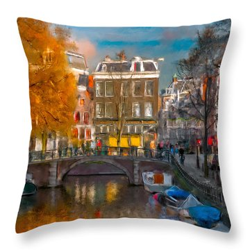 Prinsengracht 807. Amsterdam Throw Pillow