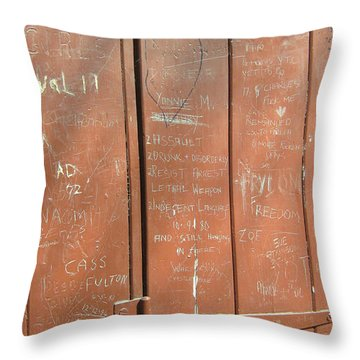 Prison Graffiti Throw Pillow