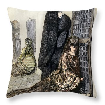 Prison: The Tombs, 1870 Throw Pillow by Granger