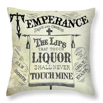 Prohibition Lips Throw Pillow